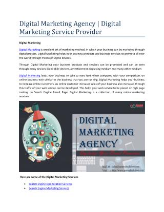 Digital Marketing Agency | Digital Marketing Service Provider