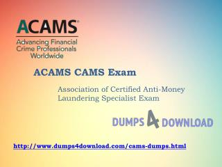 Latest ACAMS CAMS Exam Study Guide And Exam Dumps