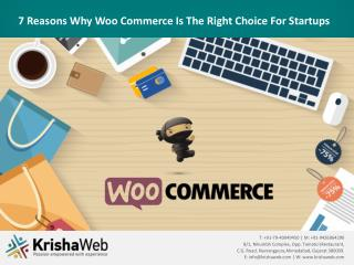 7 Reasons Why Woo Commerce Is The Right Choice For Startups