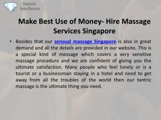 Get relaxing sexy massage singapore