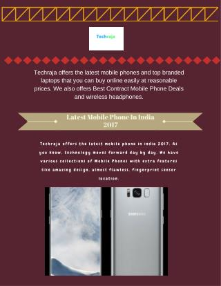 Latest Mobile Phone In India 2017