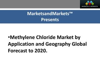 Methylene Chloride Market by Application by geography
