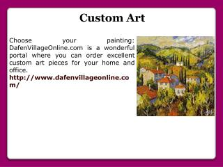 Customized Oil Painting
