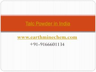 Talc Powder in India- india