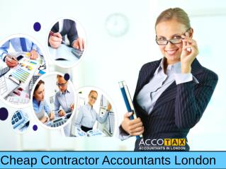 Cheap Contractor Accountants London- Cheap Accountants