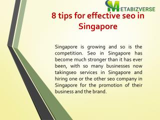 8 tips for effective seo in Singapore