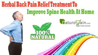 Herbal Back Pain Relief Treatment To Improve Spine Health At Home