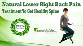 Natural Lower Right Back Pain Treatment To Get Healthy Spine
