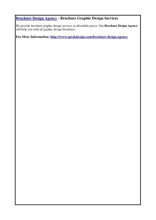 Brochure Design Agency - Brochure Graphic Design Services