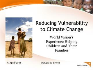 Reducing Vulnerability to Climate Change