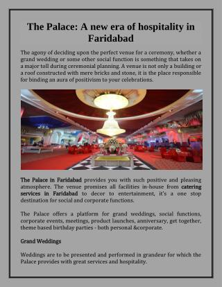 Catering Services In Faridabad