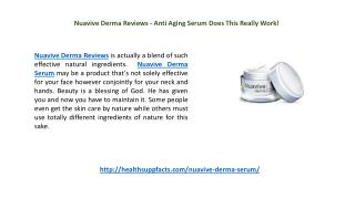 Nuavive Derma Reviews - Anti Aging Serum Does This Really Work!