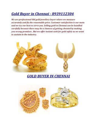 Gold Buyer & Seller in Chennai - 8939112304