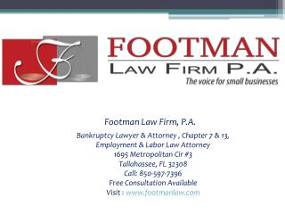 Footman Law Firm, P.A. - Short Introduction