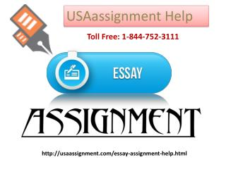 Essay assignment Help Toll Free: 1-844-752-3111
