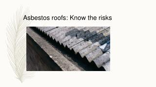 Asbestos Roof Removal Logan City