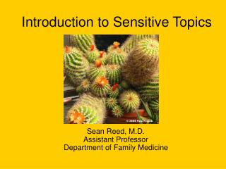 Introduction to Sensitive Topics