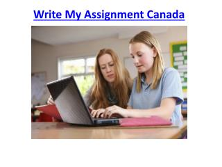 Write My Assignment Online in Canada