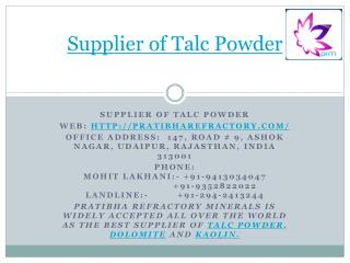 Supplier of Talc Powder-Ultimate_Quality