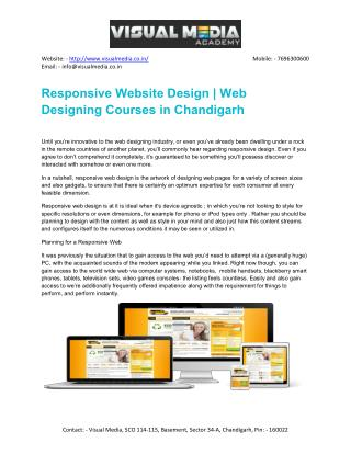 Responsive Web Designing Courses in Chandigarh