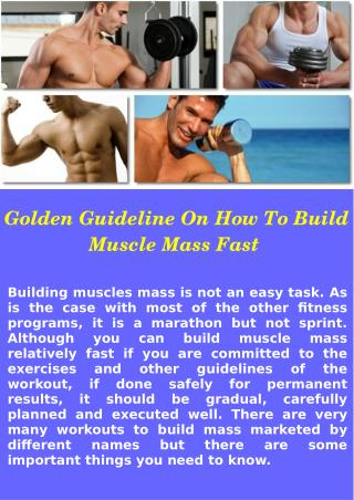 How to Gain Muscle Quickly At Home