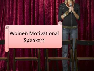 Women Motivational Speakers