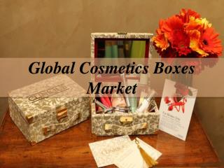 Global Cosmetics Boxes Market