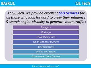 Why only QL Tech for SEO Services - Perth