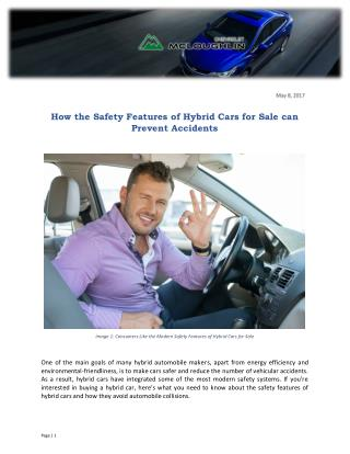 How the Safety Features of Hybrid Cars for Sale can Prevent Accidents
