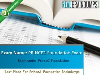 Where to Find Free PRINCE2 Foundation braindumps