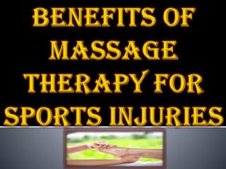 Benefits of Massage Therapy for Sports Injuries