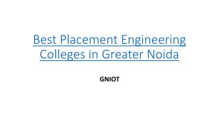 Top 10 private engineering colleges in Delhi NCR - GNIOT