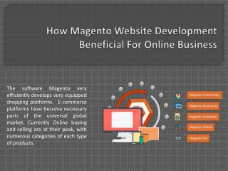 How Magento Website Development Beneficial For Online Business
