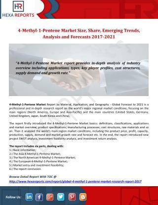 Global 4-Methyl-1-Pentene Market Research Report 2017