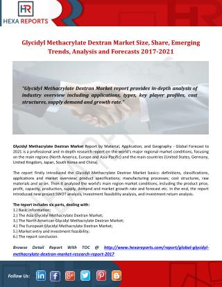 Global Poly Glycidyl Methacrylate Market Research Report 2017