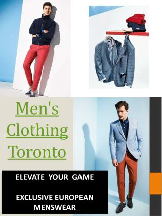 Menswear Downtown Toronto
