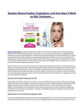 Nuavive Derma Product Active ingredients ?