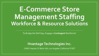 E-Commerce Store Management Staffing