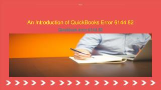An Introduction of QuickBooks Error 6144 82