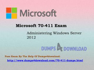Microsoft 70-411 Dumps Exam Question - 100% Passing Assurance