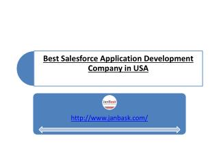 Best Salesforce Application Development Company USA
