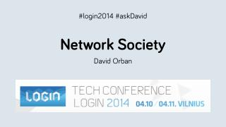 Network Society - Login 2014