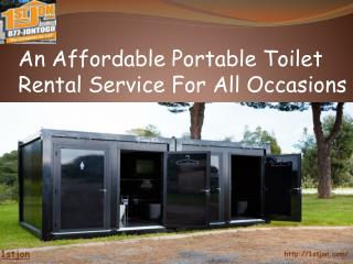 An Affordable Portable Toilet Rental Service For All Occasions
