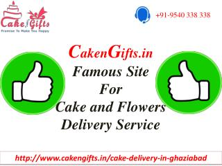 Send Cake & Flowers on the same day in Ghaziabad through CakenGifts.in