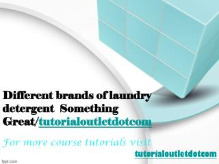 Different brands of laundry detergent  Something Great/tutorialoutletdotcom