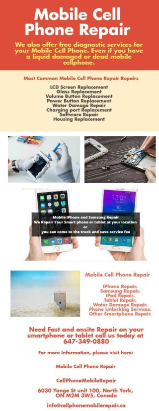 Mobile Cell Phone Repair
