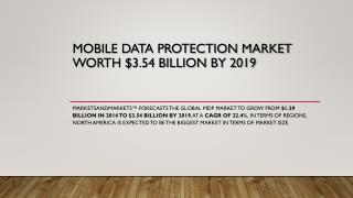 Mobile Data Protection Market worth $3.54 Billion by 2019