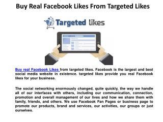 Buy Real Facebook Likes From Targeted Likes