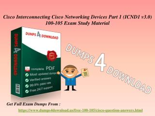 Verified Cisco 100-105 Exam Questions - 100-104 Dumps PDF Dumps4Download.us