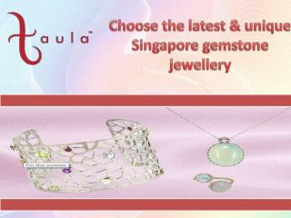 The collection of Singapore gemstone Jewellery: